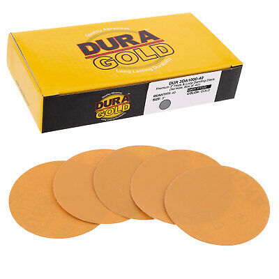 "1000 Grit 3"" Gold Hook & Loop Sanding Discs DA Sanders - Box of 40 Sandpaper"