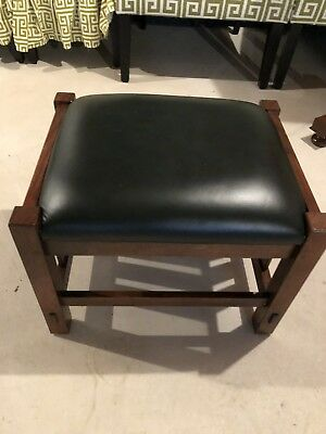 Authentic Stickley Oak Leather Footstool