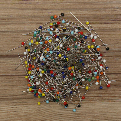 500pcs Glass Round Pearl Head Pins Multicolor Sewing Needles Pins DIY Crafts !