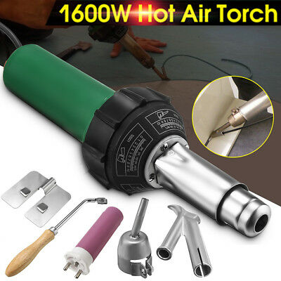 1600W 1.6KW AC 220V Hot Air Plastic Welding Torch Gun Heat Welder Pistol