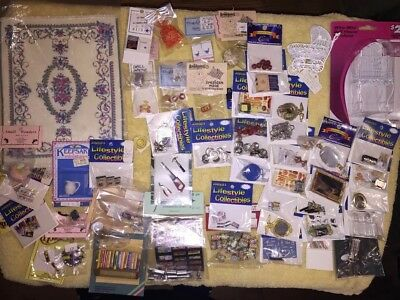 NEW VINTAGE DOLL HOUSE MINATURE ACCESSORIES LOT Of 105 Incredible Adorable