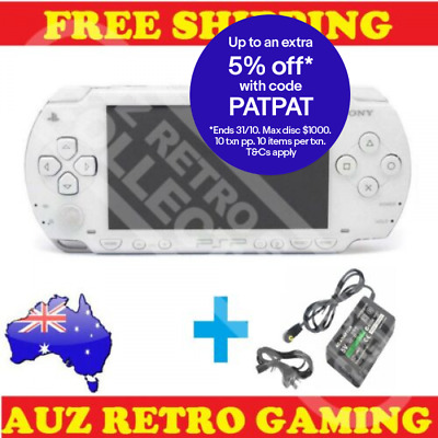 WHITE PSP Sony Playstation Portable Console + Charger - Refurbished PSP 1000