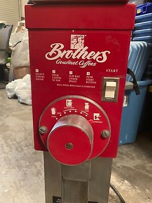 Red Grindmaster Coffee Grinder Commercial Brothers gourmet coffee model 850