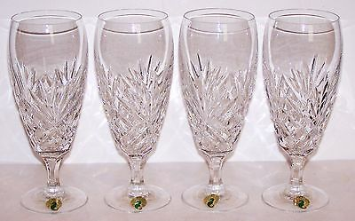 Stunning Htf Signed Waterford Crystal Special Set Of 4 Iced Beverage Glasses