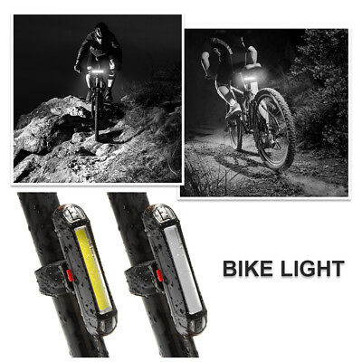 Super Bright Bike Night Taillight Bicyle LED Rear Back Lamp White/Red Light NEW