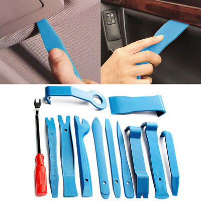 12pcs Car Removal Pry Open Tool Kit For Auto Audio Door Dash Trim Panel Clip New