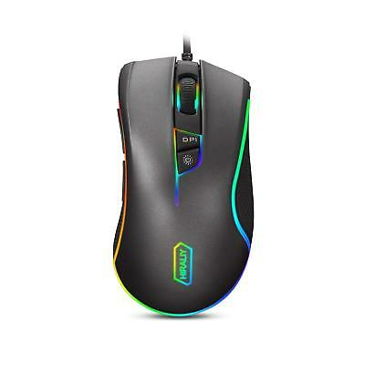 HIRALIY F300 Gaming Mouse Wired RGB 9 Programmable Buttons 5000 DPI