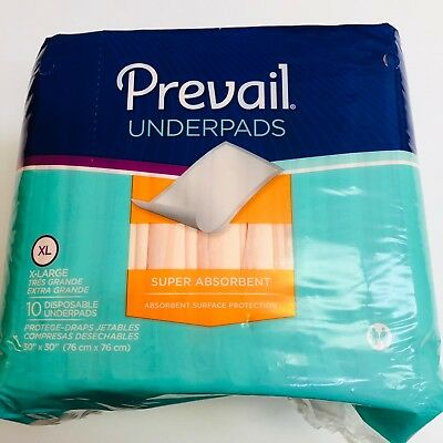 Underpad Prevail Super, 30 X 30 Inch, Heavy Absorbency,