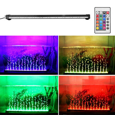 Aquarium Fish Tank Underwater Submersible Color Changing LED Air Bubble Light US