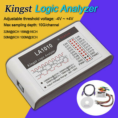 LA1010 USB Analyseur Logique 100M Max Sample Rate 16 Canaux Debug Oscilloscope