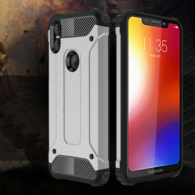 Protective Hybrid Shockproof Cover Rubber Case For Motorola Moto One / P30 Play