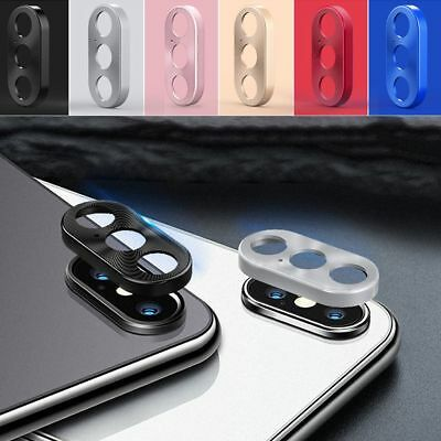 Metal Cover Rear Back Camera Lens Ring Protective Case for iPhone XS/XS Max/