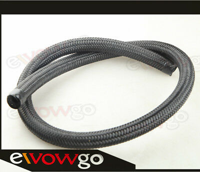 NYLON Cover Braided 1500 PSI -10AN AN10 Oil Fuel Gas Line Hose Foot Black