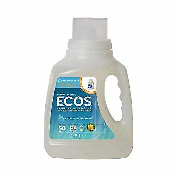 Earth Friendly Baby Laundry Liquid Ecos Fragrance Free - 50 Washes 1.5Ltr