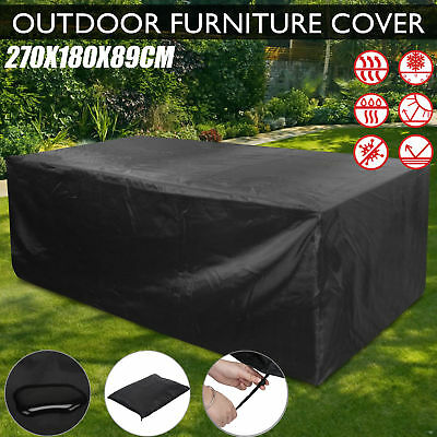 Extra Large Garden Patio Furniture Set Cover Table Sofa Bench Cube Outdoor Black