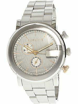 4c80af3d0aa Gucci Men s G Chronograph YA101360 Silver Stainless-Steel Swiss Dress Watch