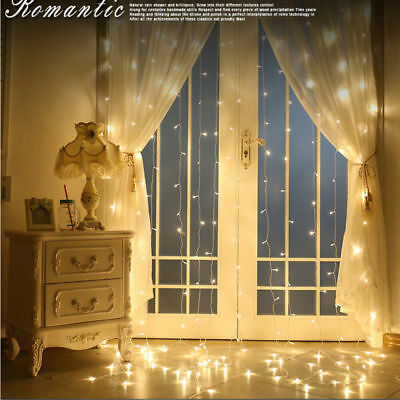 Window Curtain Icicle Lights String Fairy Light 304 600 led Wedding Party Garden