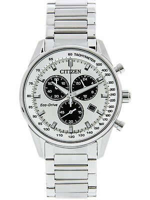 Citizen Men's Eco-Drive AT2390-82A Matte Silver Stainless-Steel Fashion Watch