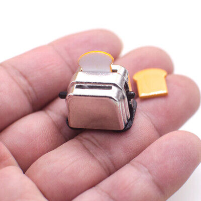 1:12 Scale Miniature Toaster Bread Machine For Doll House Kitchen Cookware Decor