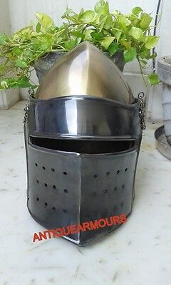 Collectors Knight Spartan Barbute Armour Helmet Visor Barbuta Halloween Gift