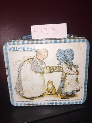 1979 HOLLY HOBBIE Vintage Metal Lunch Box No thermos Lot 412 B