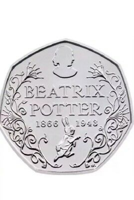 Beatrix Potter 150th Anniversary 50 p Fifty Pence coin 2016