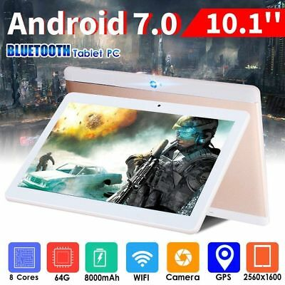 10.1 inch Android 7.0 Tablet PC 4GB+64GB Octa Core WIFI GPS Phone Wifi Phablet