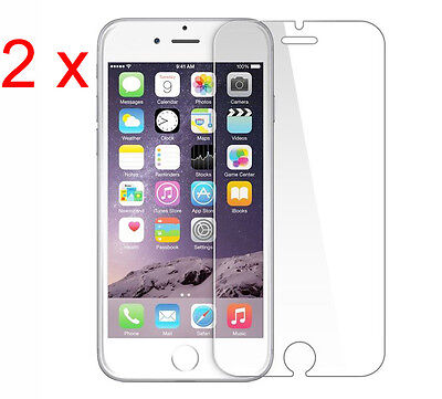 Pack of 2 NEW 100% GENUINE TEMPERED GLASS FILM SCREEN PROTECTOR APPLE IPHONE 7