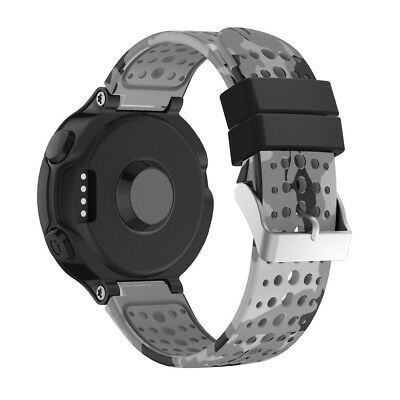 Breathable Pattern Silicone Strap Wristband Watch Band For Garmin Forerunner 235