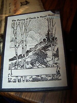 """50 Vintage Antioch Book Plates """"The Poetry of Earth is Never Dead"""".  In Box!"""