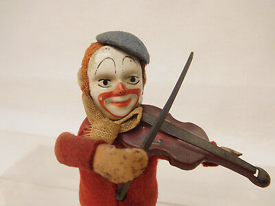 X-61402	Alte Schuco Tanzfigur Clown Made in Germany H:ca.110mm