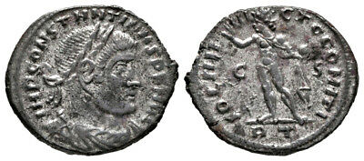 CONSTANTINE THE GREAT (315 AD) Silvered Follis, Rome #MA 801