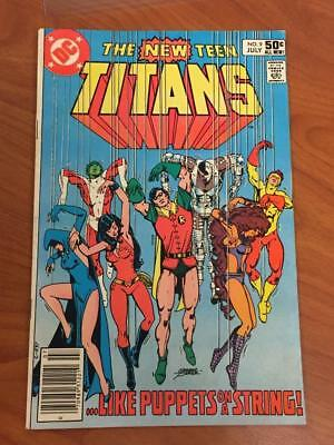 New Teen Titans #9 1980's DC Comics VG/FN