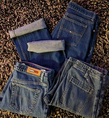 LOT 3 ~Tommy Hilfiger Women's VINTAGE Hipster Boot~Dark Authentic Jeans Size 6