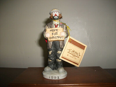 Emmett Kelly Jr. Home For Christmas 1992 annual ornament signature collection
