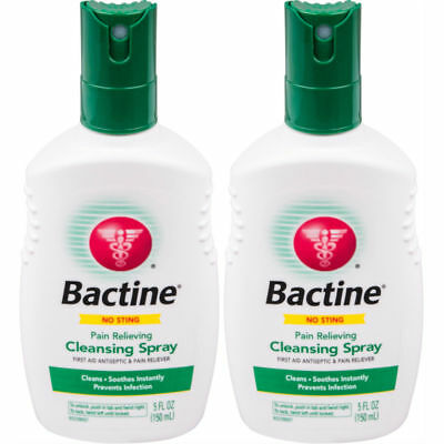 2 Pack Bactine Pain Relieving Cleansing Spray Infection Protection 5 oz