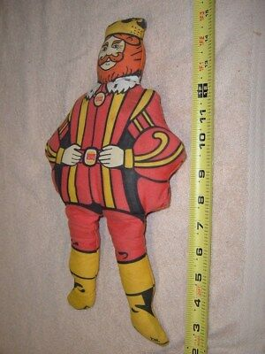 "Burger King ""king"" Doll     Usa"