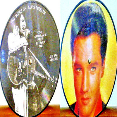 "King ELVIS Presley ""THE VOICE OF ELVIS PRESLEY"" 1960 Press Interview PIC DISC!"