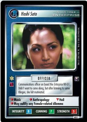 Star Trek CCG 2E In A Mirror Darkly Hoshi Sato Captain's Woman 13U105 CCG Individual Cards