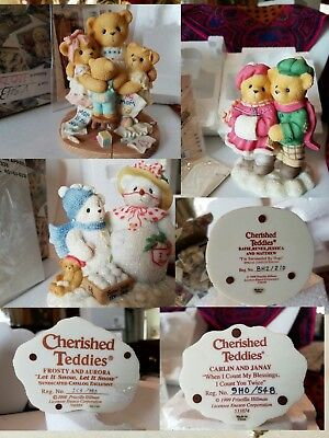 3 Cherished Teddies by Enesco with Boxes 706884 533874 538229