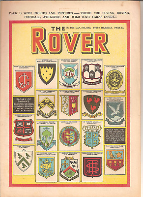 ROVER,No.1437,JAN.10th,1953:SCHOOL BADGES COVER:BRADDOCK,IT'S GOALS THAT COUNT