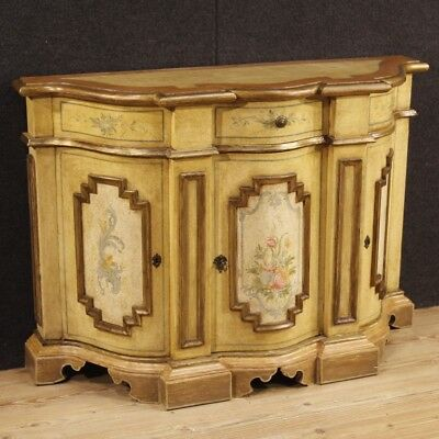 Cupboard furniture italian wood golden and painting antique style dresser 3