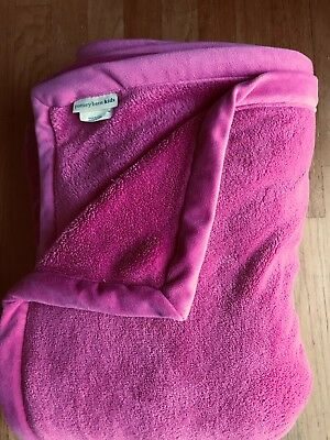 Pottery Barn Kids Bright Pink COZY PLUSH Twin Blanket