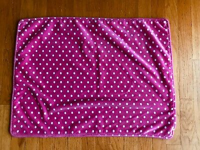 Pottery Barn Kids Bright Pink Polka Dot CHAMOIS Pillowcase