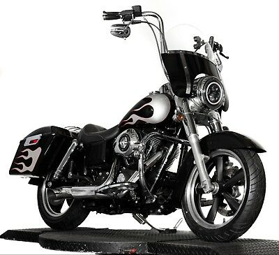 2013 Harley-Davidson Dyna  2013 Harley Davidson Dyna Switchback Switch Back FLD Black Silver Flame Paint
