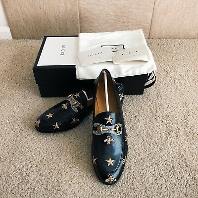 4d50103ac93 Brand New 2018 Authentic Gucci Black Jordaan Leather loafer women size 37.5