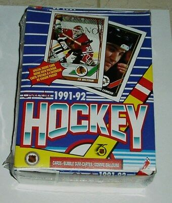 1991-92 O-Pee Chee Hockey Wax Box 36 Packs New Factory Sealed