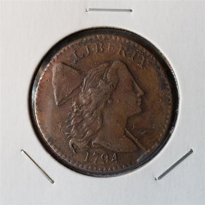 1794 Flowing Hair Cent - Extremely Fine Details - Head of 94 S-30 - Tough Date