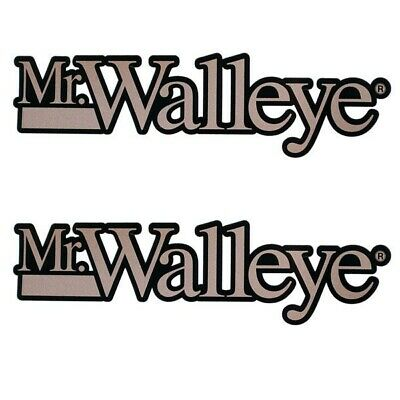 Boat Mr. Walleye Decals | Custom Black Copper Colored (Pair)