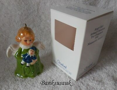 1994 19th EDITION GREEN GOEBEL ANGEL BELL ANNUAL ORNAMENT – MIB